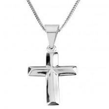 Naszyjnik ze srebra 925 z zawieszką łaciński krzyż