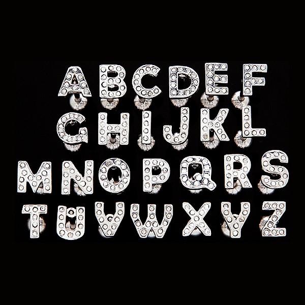 Piercing do języka ze stali - litera z cyrkoniami - Litera: N