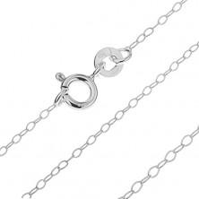 Srebrny łańcuszek 925 - delikatny splot z owalnych oczek, 1,6 mm