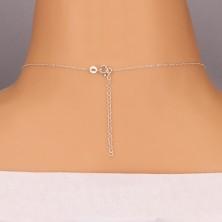 Lśniący naszyjnik - łańcuszek z zaokrąglonym krzyżem, srebro 925