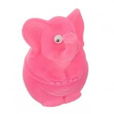 Ozdobne pudełeczko na prezent - różowy słonik