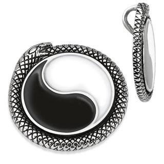 Wisiorek Yin-Yang obramowany wężem