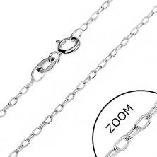 Łańcuszek srebrny 925 - gładkie owalne ogniwa, 1,3 mm