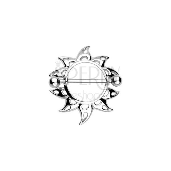 Piercing sutka - słońce z wycięciami w kształcie łezki, 2 sztuki