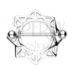 Piercing sutka, słońce z trójkątnymi wycięciami - 2 sztuki