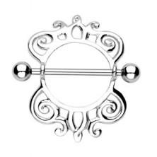 Piercing sutka, wzór ślimacza muszla - 2 sztuki