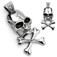 Zawieszka piracki symbol - czaszka i kości