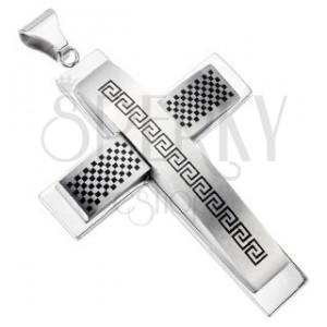 Masywny krzyż - szachownica i graficki symbol