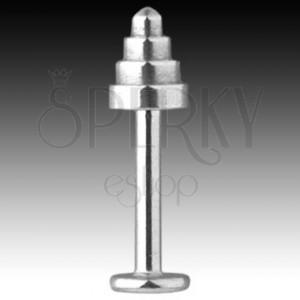 Labret ze stali 316L - stożek z zaokrągloną końcówką, grubość 1,6 mm