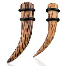 Expander do ucha z naturalnego drewna kokosowego, wygięty