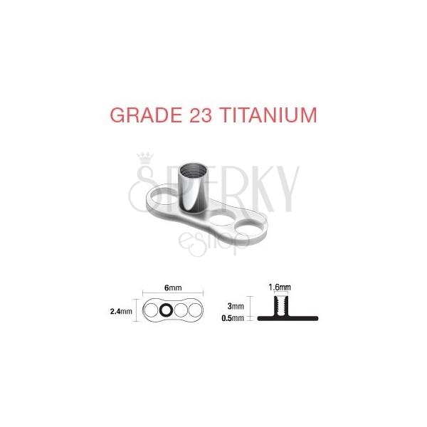 Podstawka pod piercing implant z tytanu 3 dziurki