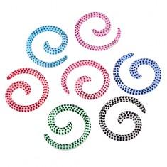 Expander do ucha - biały ślimak z kolorowymi kropkami