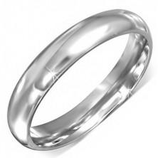 Srebrny pierścionek ze stali chirurgicznej o gładkiej powierzchni