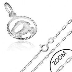 Strieborný náhrdelník s príveskom znamenia zverokruhu KOZOROŽEC