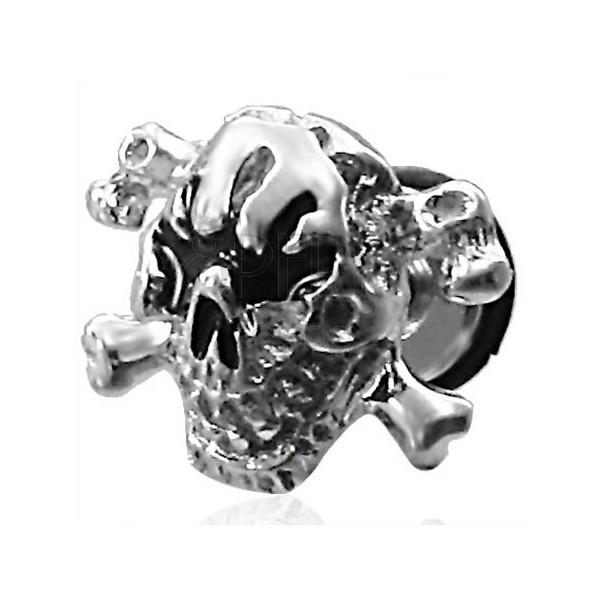Fałszywy piercing czaszka