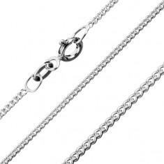 Łańcuszek ze srebra 925, skręcone okrągłe ogniwa, 1,4 mm