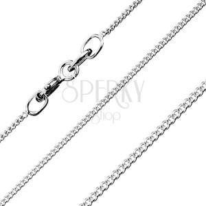 Łańcuszek ze skręconych okrągłych ogniw, ze srebra 925, 0,8 mm
