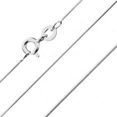 Zaokrąglony łańcuszek, splot typu żmijka, 0,8 mm, srebro 925
