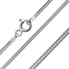 Łańcuszek ze srebra 925, spłaszczone ukośnie połączone ogniwa, 1,6 mm