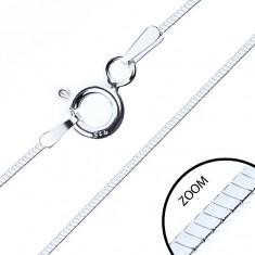 Cienki czteroboczny łańcuszek, srebro 925, 0,6 mm