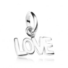 Wisiorek LOVE, ze srebra 925