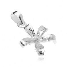 Srebrny wisiorek 925, rozwinięty kwiat lilii