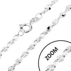 Łańcuszek ze srebra 925 - pofalowane w spiralę ogniwa, 1,5 mm