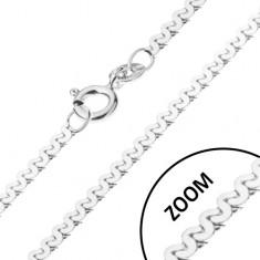 Łańcuszek ze srebra 925 - eska, lśniący, 1 mm