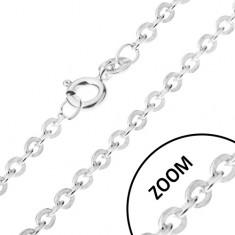 Łańcuszek z okrągłych prostopadle połączonych ogniw, srebro 925, 1,2 mm