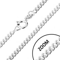 Srebrny łańcuszek 925, skręcone okrągłe ogniwa, 1,4 mm