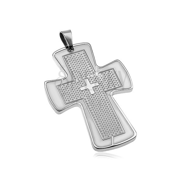 Zawieszka ze stali chirurgicznej - masywny krzyż