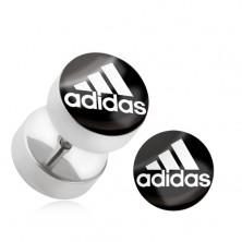 """Oszukany stalowy plug do ucha """"adidas"""""""