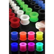Kolorowy silikonowy tunel do ucha o podwyższonych krawędziach