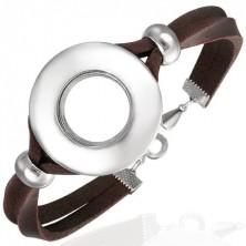 Skórzana bransoletka z okrągłą ozdobą