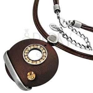 Naszyjnik z zawieszką - cyrkoniowe koło