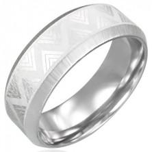 Stalowy pierścionek o kanciastych brzegach - Triangel