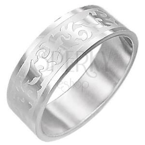 Stalowy pierścionek SYMBOL TRIBAL