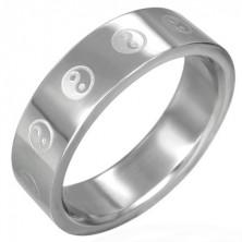 Stalowy pierścionek Yin-Yang