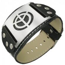 Czarna bransoletka PVC symbol pokoju