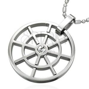 Zawieszka ze stali - koło z cyrkonią