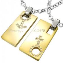 Zawieszka ze stali Forever Love - znak mężczyzny i kobiety