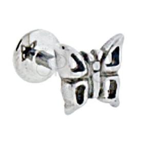 Labret motyl z dziurkami w skrzydłach