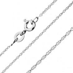 Łańcuszek ze srebra 925 - zakręcona linia, spiralnie połączone ogniwa, 1,3 mm