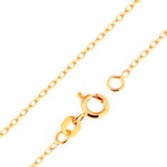 Łańcuszek z żółtego 18K złota - gładkie owalne ogniwa, splot Rolo, 500 mm