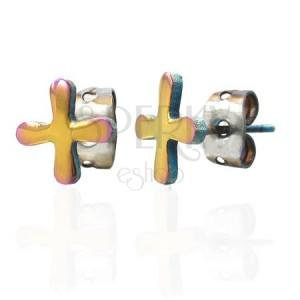 Kolorowe kolczyki ze stali symbol TABONO