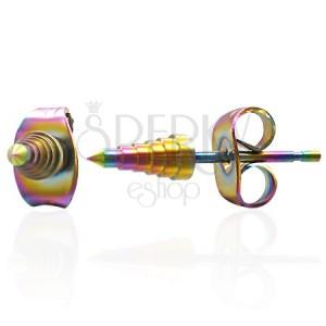 Kolczyki ze stali - anodyzowane szpice