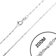 Łańcuszek ze srebra 925 - zakręcona linia, spiralnie połączone ogniwa, 1,2 mm