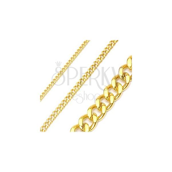 Łańcuszek ze stali chirurgicznej, w kolorze złotym, pancerka