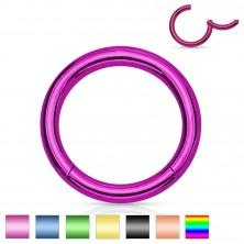 Piercing do nosa i ucha, stal 316L, lśniący krążek, różne kolory