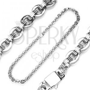 Stalowy łańcuszek ze wzorem imprezowego łańcucha